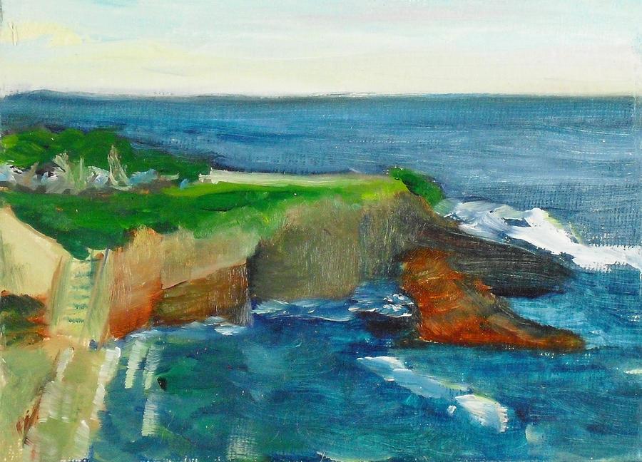 Landscape Painting - La Jolla Cove 021 by Jeremy McKay