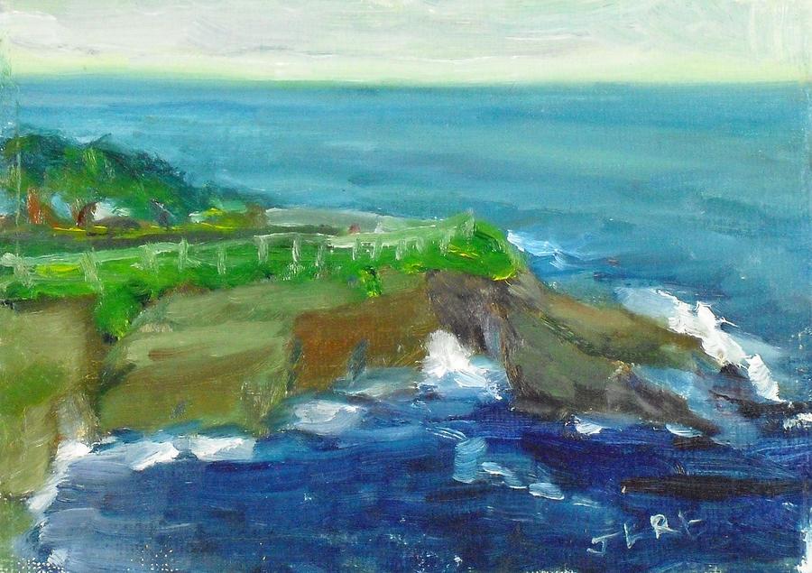 Landscape Painting - La Jolla Cove 024 by Jeremy McKay