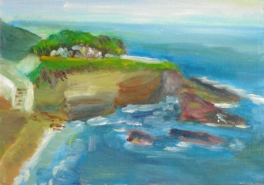 Landscape Painting - La Jolla Cove 025 by Jeremy McKay