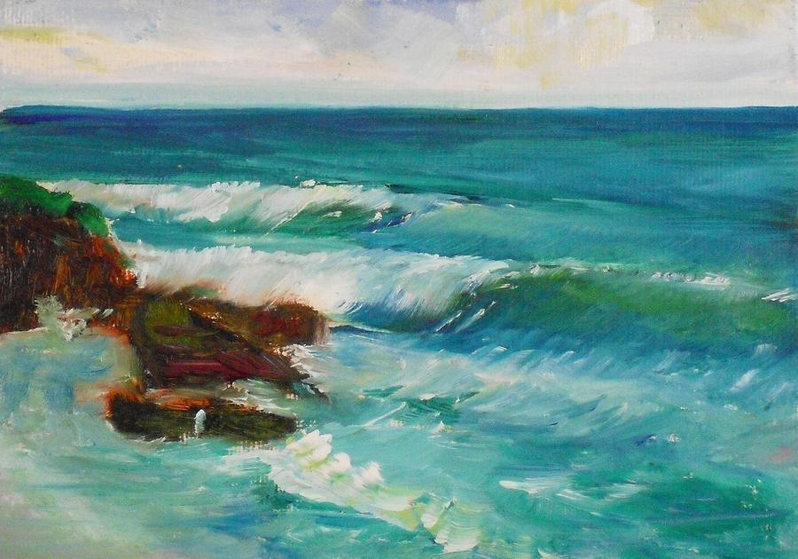 Landscape Painting - La Jolla Cove 027 by Jeremy McKay