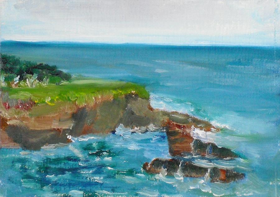 Landscape Painting - La Jolla Cove 030 by Jeremy McKay