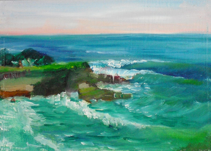 Landscape Painting - La Jolla Cove 032 by Jeremy McKay