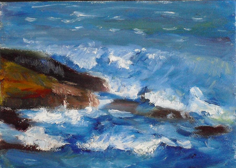 Landscape Painting - La Jolla Cove 035 by Jeremy McKay