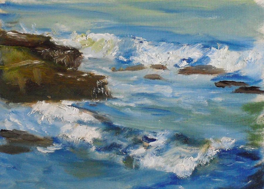 Landscape Painting - La Jolla Cove 036 by Jeremy McKay