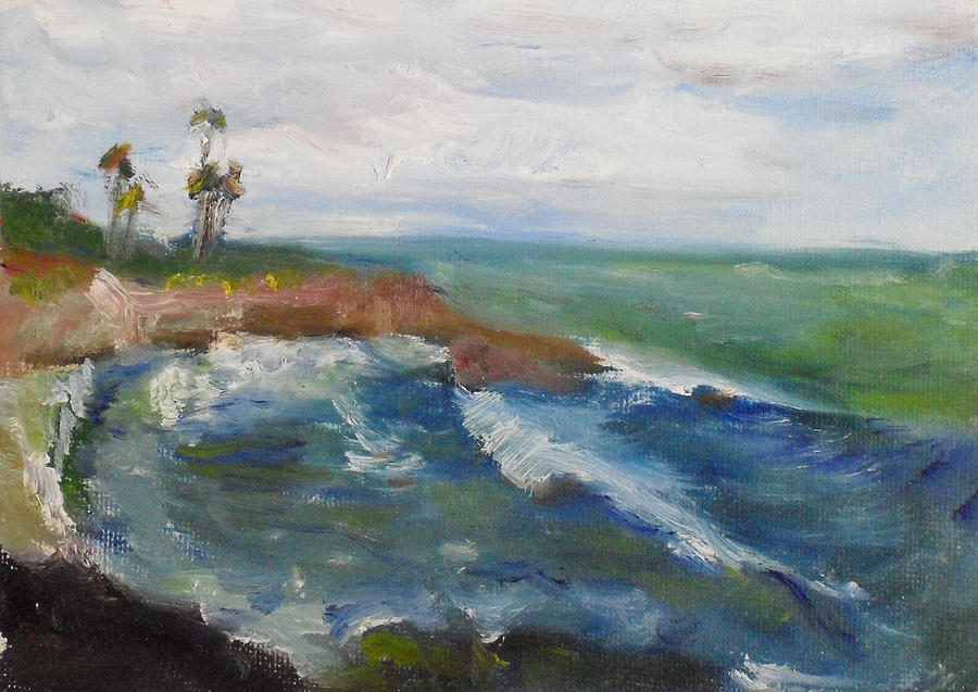 100 Paintings Painting - La Jolla Cove 039 by Jeremy McKay