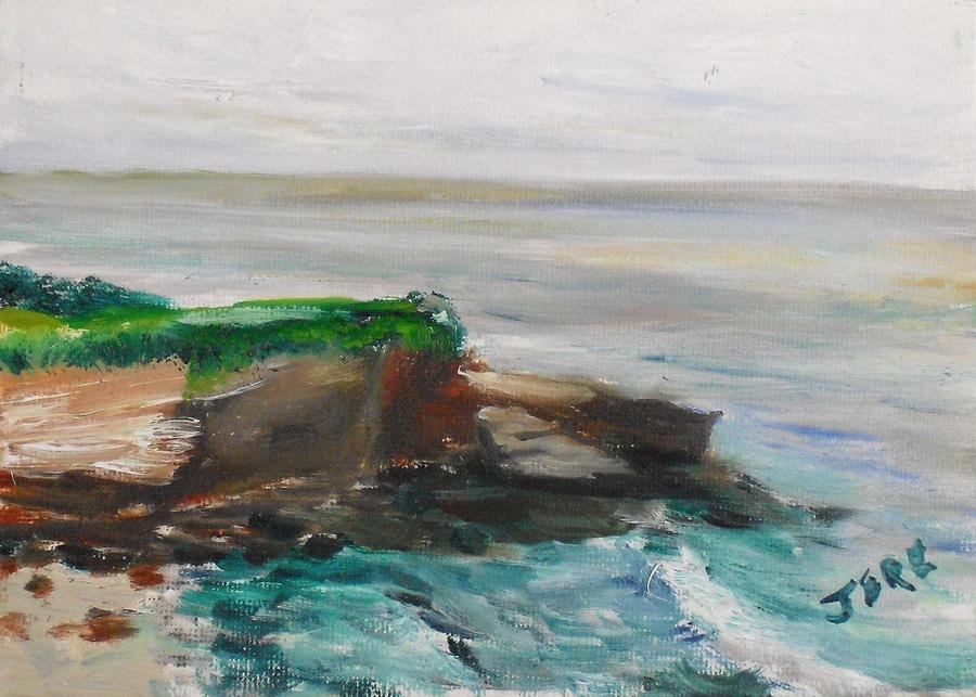 Landscape Painting - La Jolla Cove 069 by Jeremy McKay