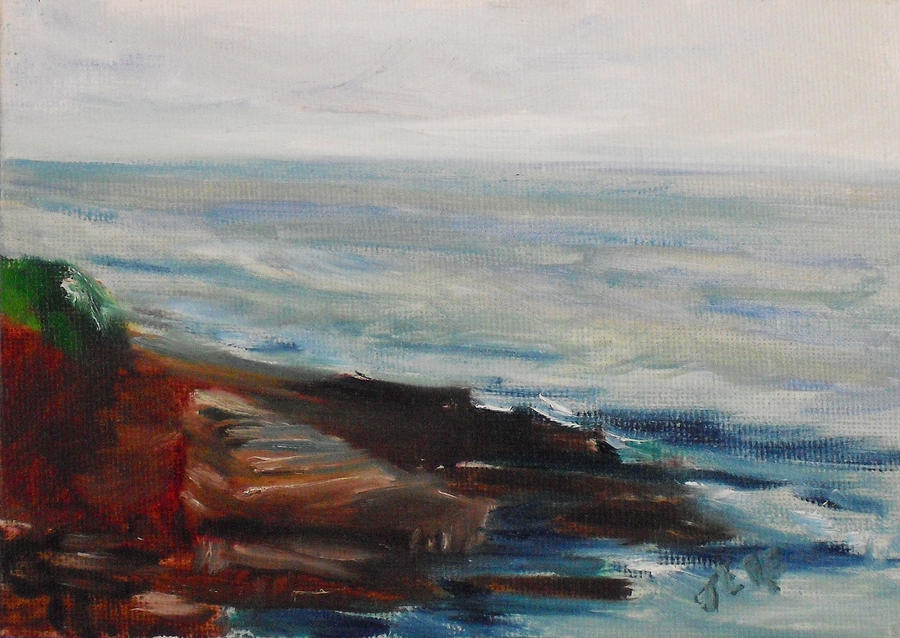 100 Paintings Painting - La Jolla Cove 070 by Jeremy McKay