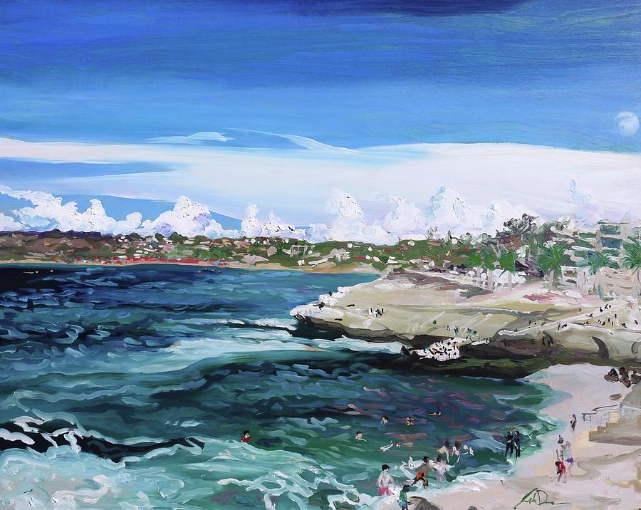 Plein Painting - La Jolla Cove by Joseph Demaree