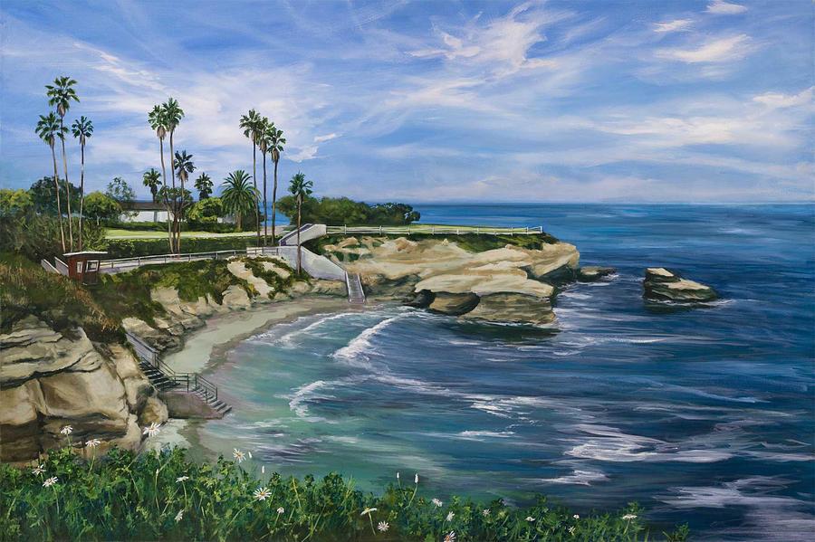 La Jolla Cove Painting By Lisa Reinhardt