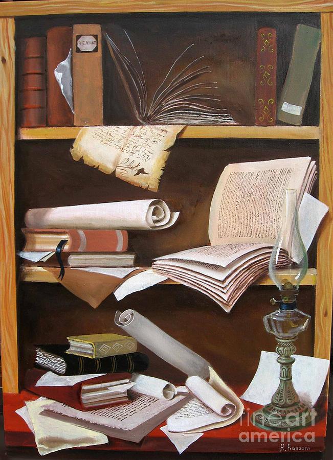 Book Painting - La Libreria by Riccardo Franzoni