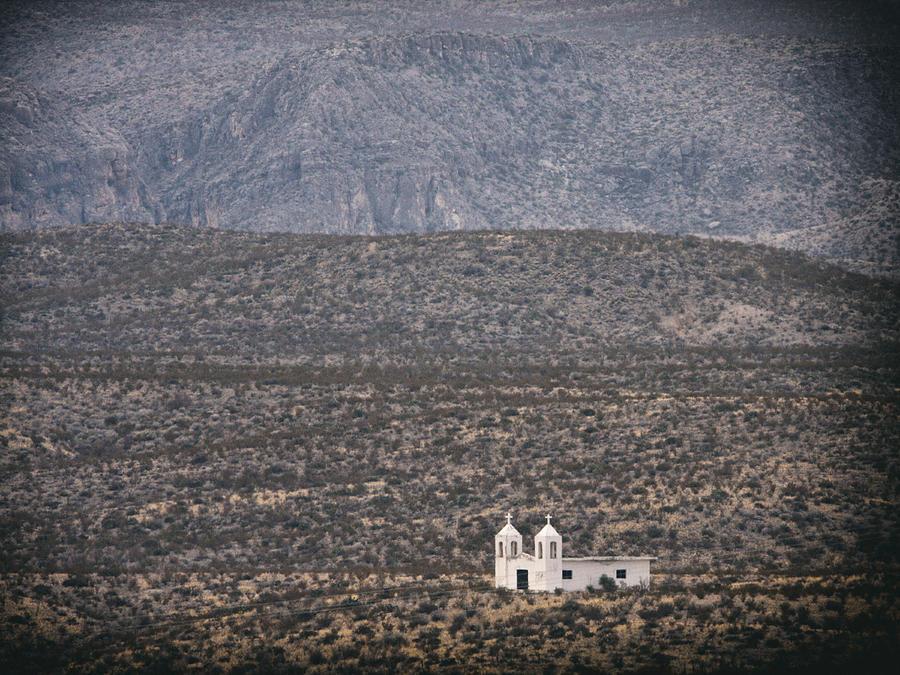 West Texas Photograph - La Linda Church by Charles McKelroy