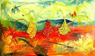 Abstract Painting - La Linea De La Vida - Abstract by Maximin Lida