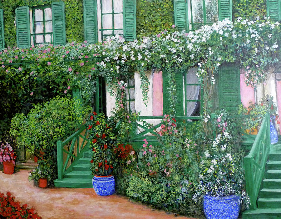 La maison de claude monet painting by tom roderick for Arts de la maison