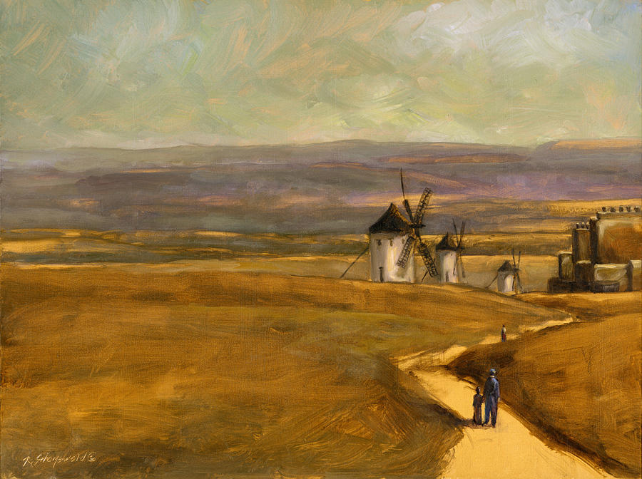 La Mancha Walk Painting by Ruth Stromswold