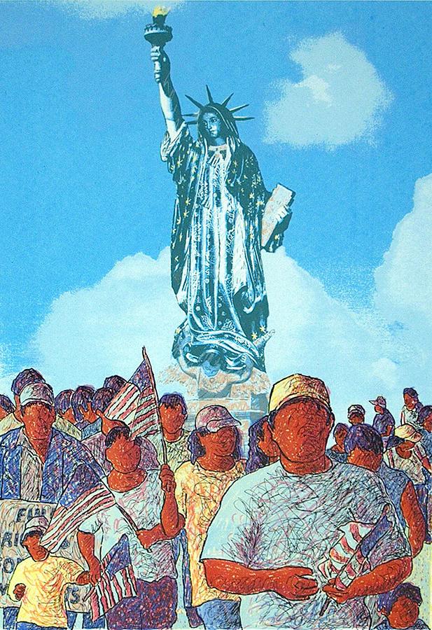 Serie Print - La Marcha De Lupe Liberty by Tony Ortega