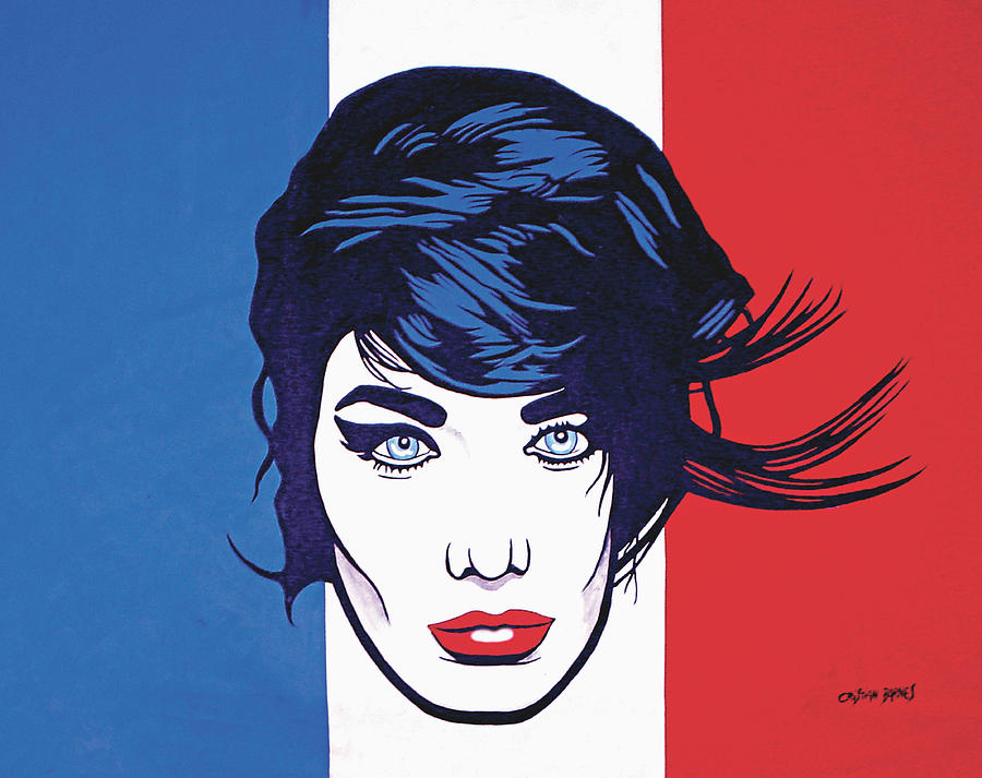 La Marianne Painting by Cristian Barnes
