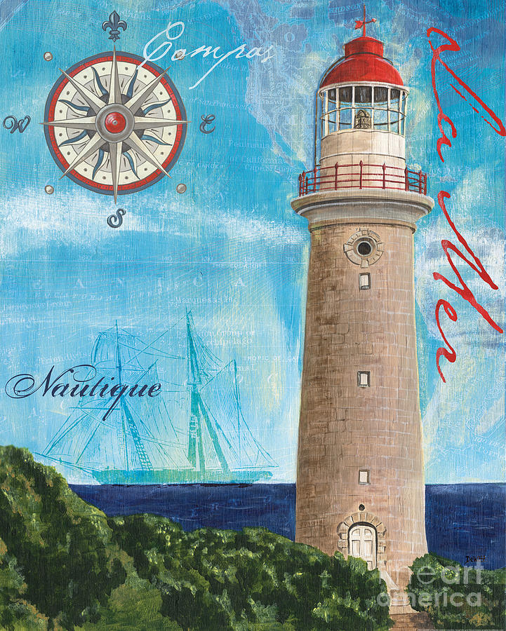 Coastal Painting - La Mer by Debbie DeWitt
