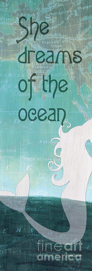 Mermaid Painting - La Mer Mermaid 1 by Debbie DeWitt