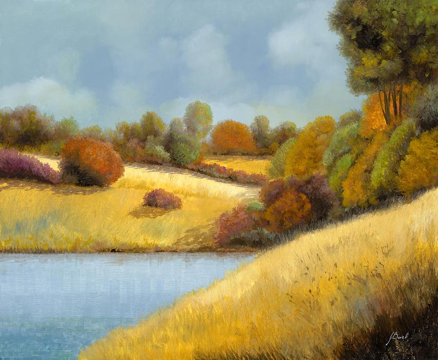 La Mietitura Sul Lago Painting