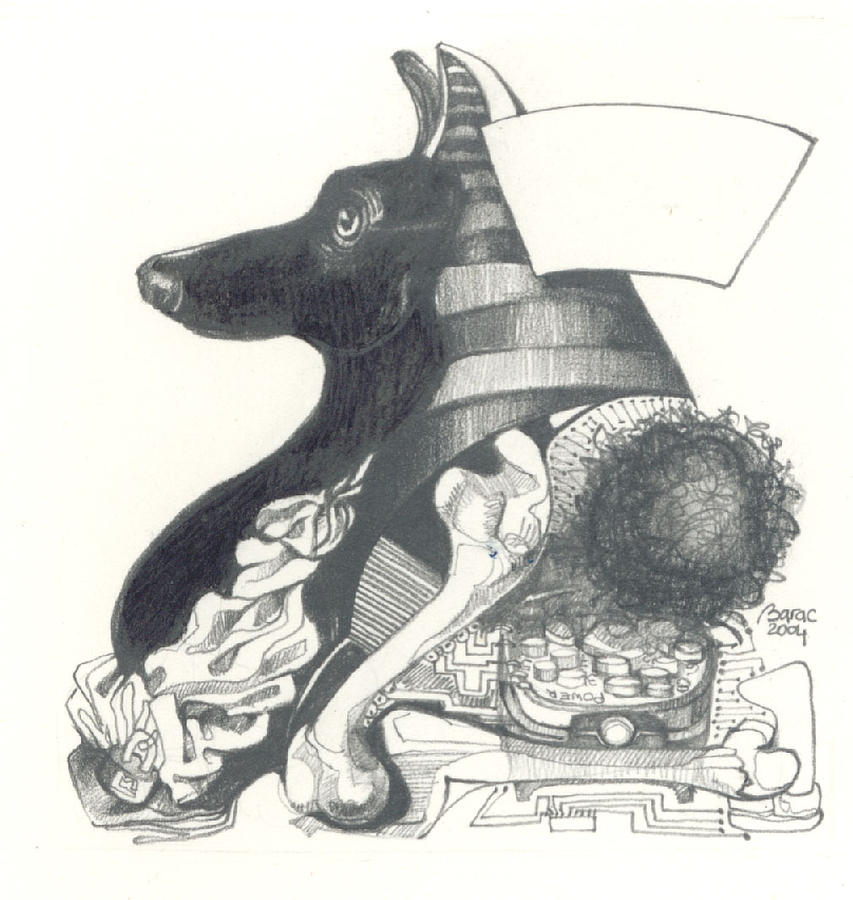 La Morte Drawing by Lilian Barac