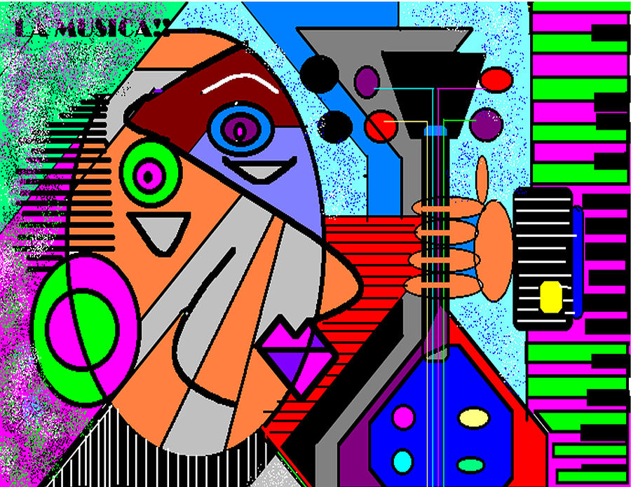Music Digital Art - La Musica by George Pasini