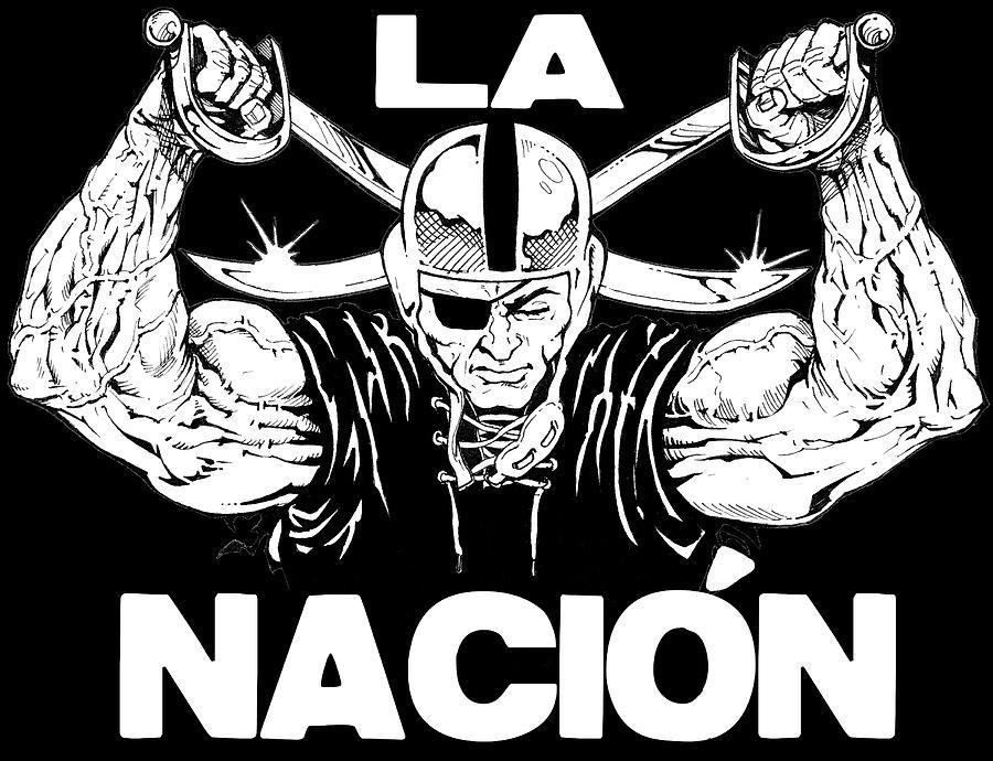 Sports Drawing - La Nacion by Brian Child