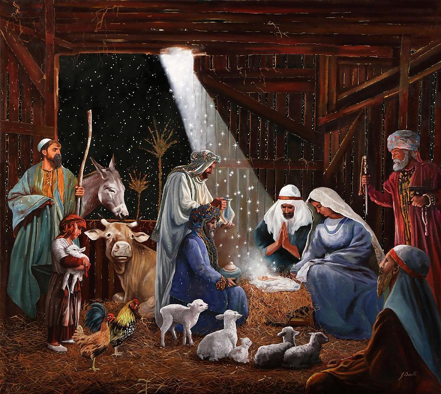 La Nativita Painting By Guido Borelli