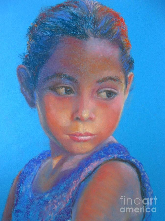 Child Painting - La Nina by Shirley Leswick