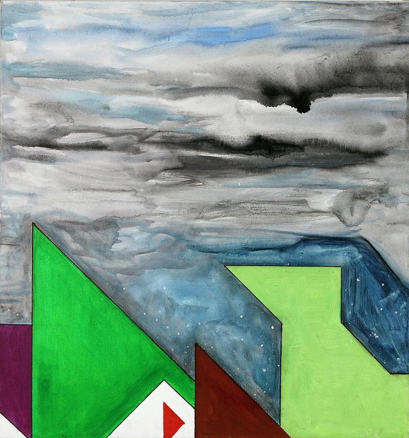 Abstract Painting - La Notte Sopra La Citta Verde - Part II by Willy Wiedmann