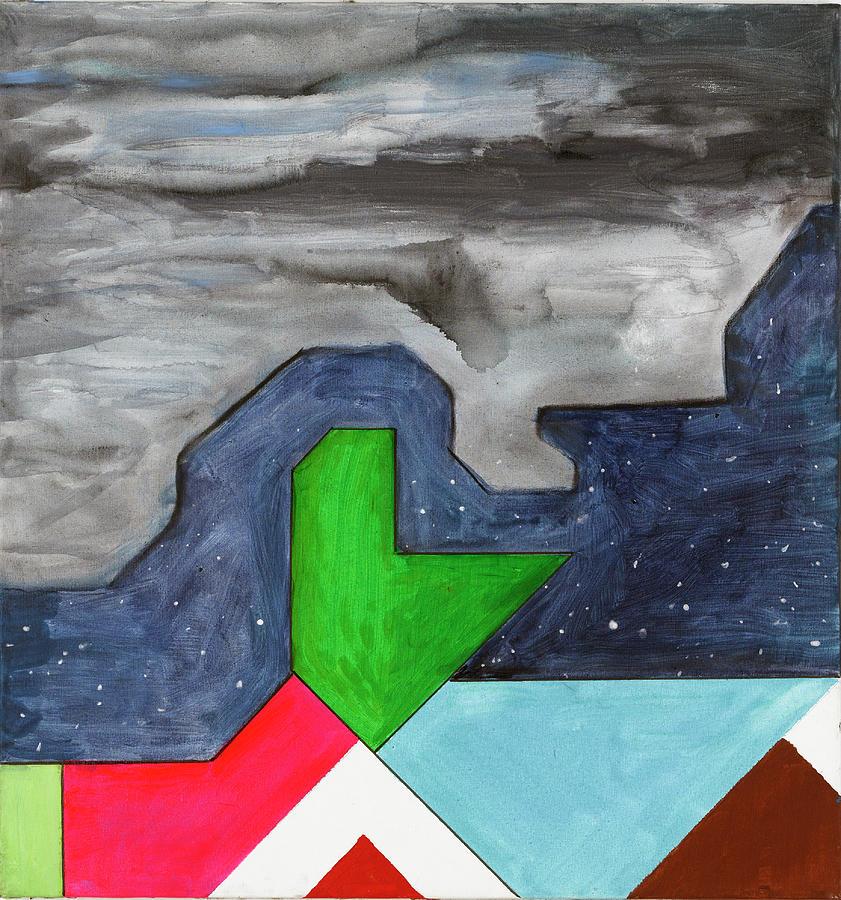 Abstract Painting - La Notte Sopra La Citta Verde - Part IIi by Willy Wiedmann