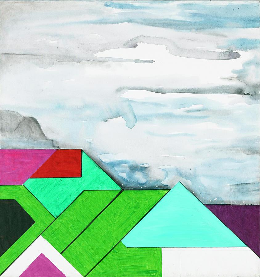 Abstract Painting - La Notte Sopra La Citta Verde by Willy Wiedmann