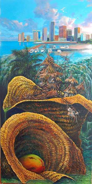 La otra orilla Painting by Arnaldo Ladron de Guevara