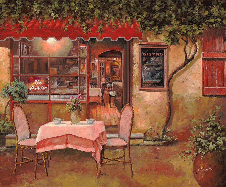 Cafe Painting - La Palette by Guido Borelli