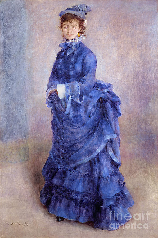 La Parisienne Painting - La Parisienne The Blue Lady  by Pierre Auguste Renoir