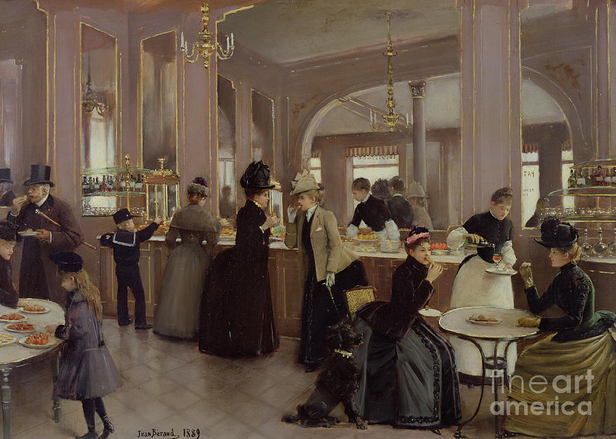 Champs Elysees Painting - La Patisserie by Jean Beraud