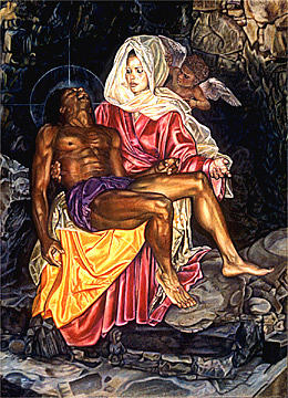 Angel Painting - La Pieta by Buena Johnson
