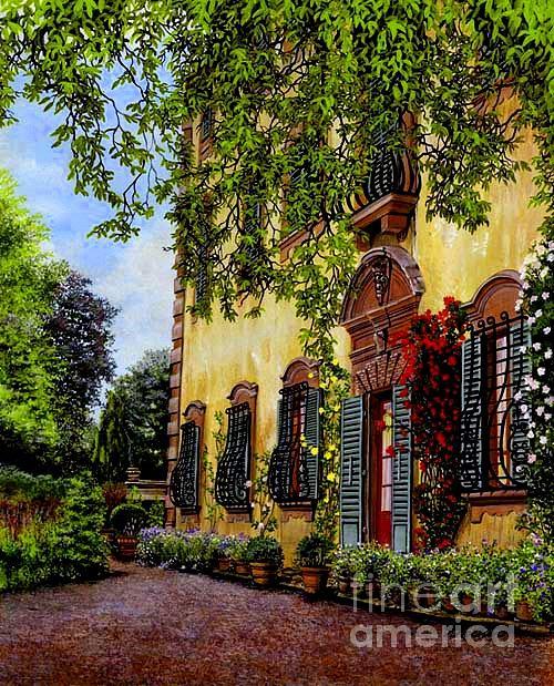 Scenic Painting - La Pietra by Pamela Roehm
