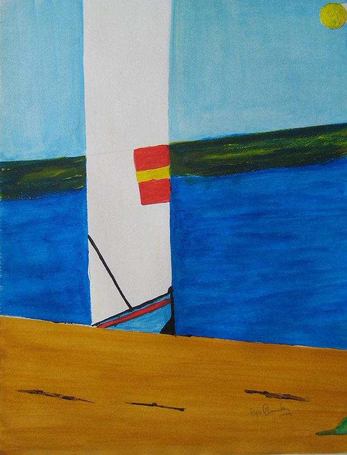 Seascape Painting - La Playa - The Beach. by Roger Cummiskey