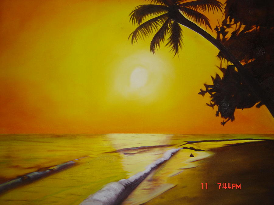 Water Painting - La Playa by Gilbert Nieves photograph unknow