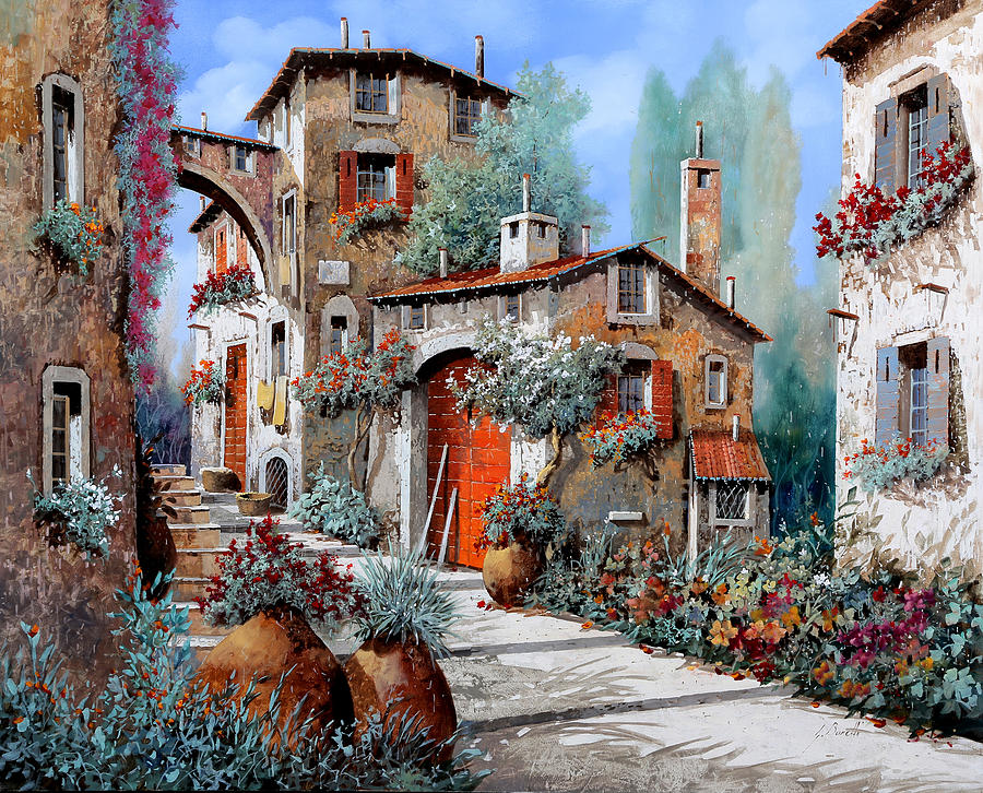 la porta rossa painting by guido borelli