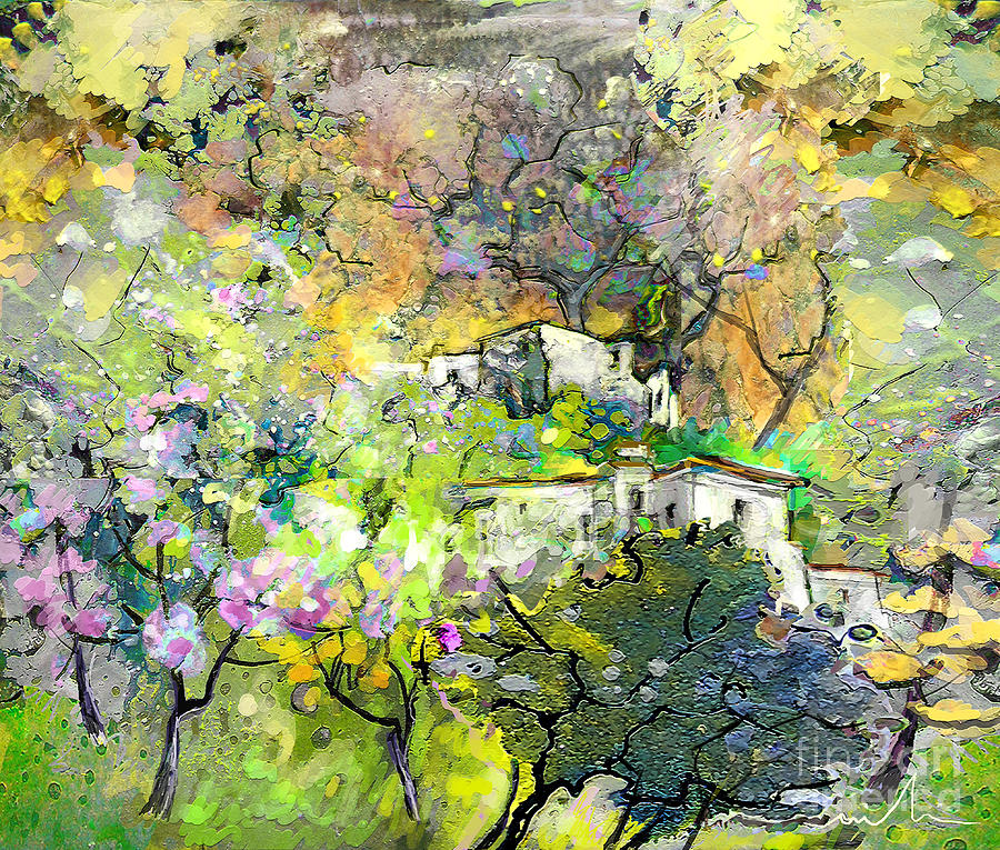 Landscape Painting Painting - La Provence 07 by Miki De Goodaboom