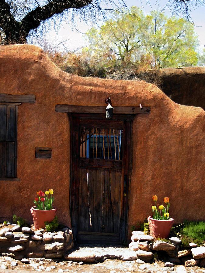 Door Photograph - La Puerta Marron Vieja - The Old Brown Door by Kurt Van Wagner