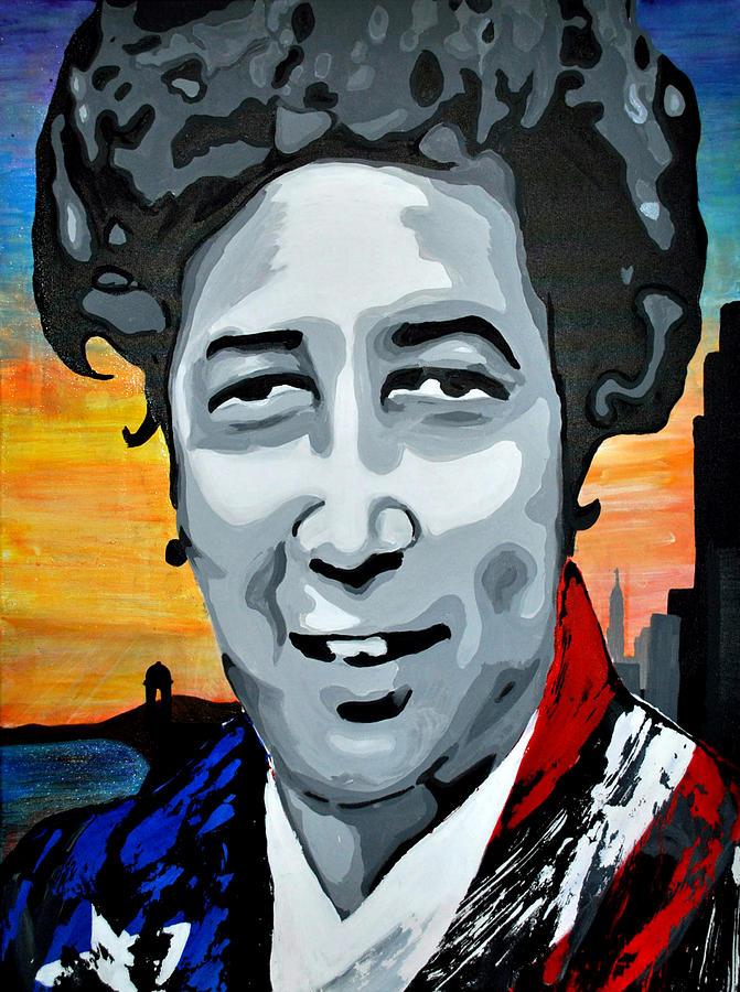 Portrait Painting - La Que Aspira by Josean Rivera
