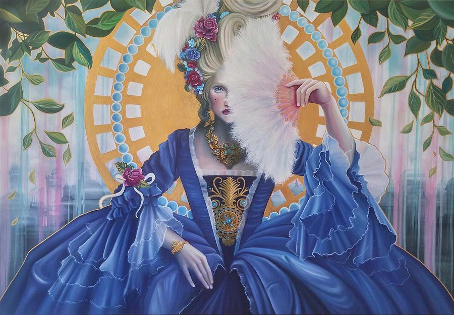 La Reine Du Rococo Painting By Beatriz Morera - Rococo painting