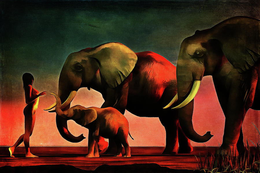 Acrylic Painting - La rencontre by Jan Keteleer