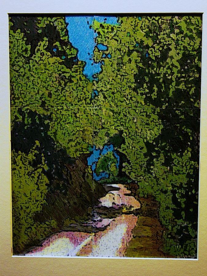 Watercolor Mixed Media - La Romita Road by Tom Herrin