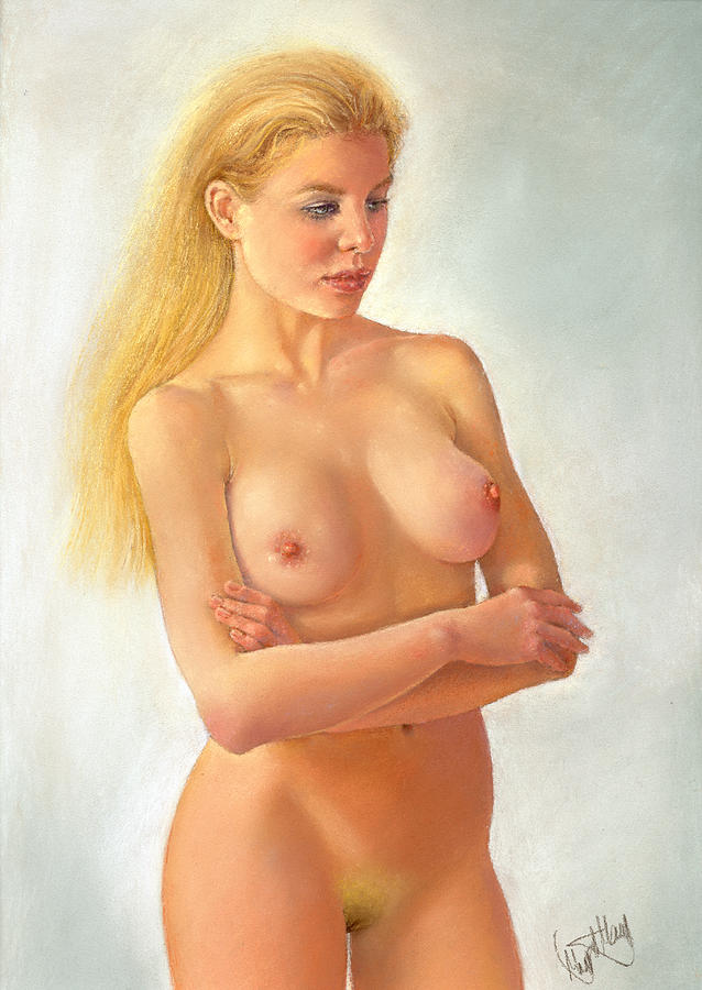 Painting Painting - La Rubia by Margaret Merry