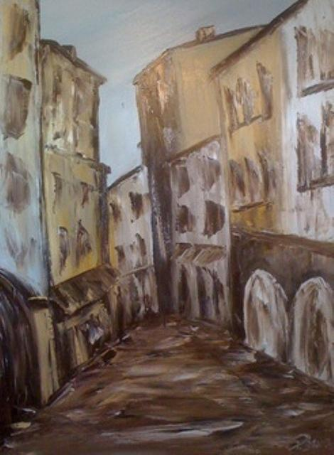 La Rue Painting by Patrice Brunet