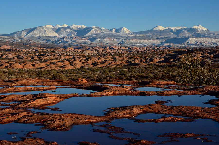 La Sal Mountains and Ephemeral Pools by Tranquil Light  Photography