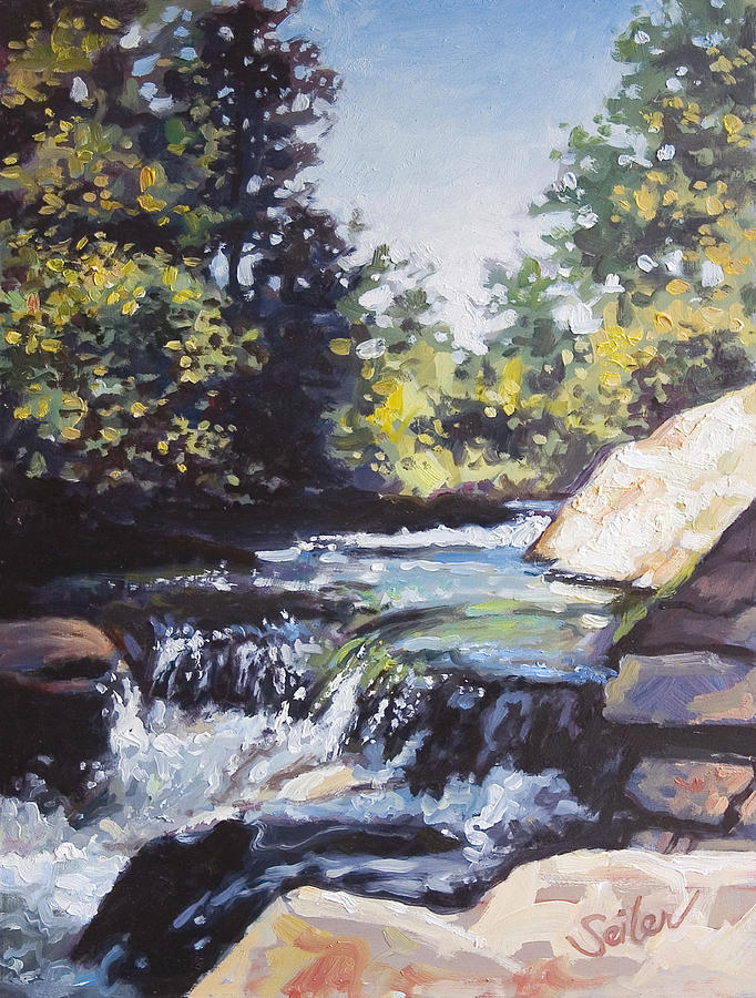 Waterfalls Painting - La Salle Falls by Larry Seiler